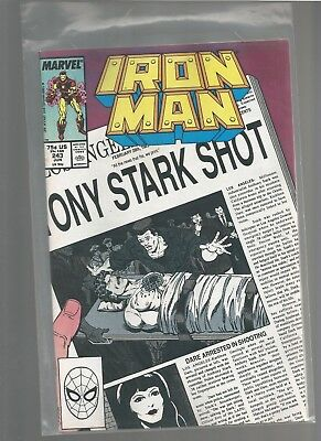 Iron Man #243 vf+ from March 1989 COMBINE SHIPPING BOB LAYTON/BARRY SMITH ARTIST