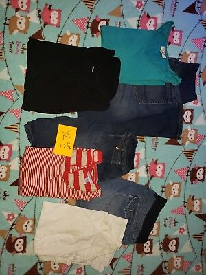 Motherhood Maternity tops and Jeans XL LOT C USED