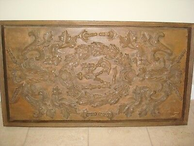 Restoration Hardware Hand-Carved Rococo Wood Panel Natural Large Relief