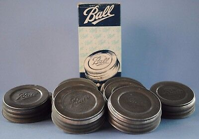 Vtg ONE BALL PORCELAIN~LINED ZINC CAP/LID ~ REGULAR~MOUTH Mason Canning Jar NOS