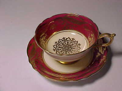 Paragon Cup and Saucer Dark Pink with God