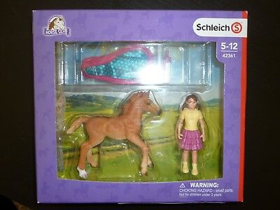 New Schleich Horse Club Foal with Blanket Young Horse Action Figure Toy 42361