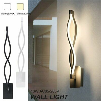 Modern 16W Minimalist LED Ceiling Light Indoor Wall Sconce Fixture for Bedroom