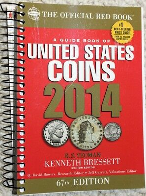 """2014 """"the OFFICIAL RED BOOK"""" HANDBOOK of U.S. COINS (66th ED.) WHITMAN PUB. Co."""