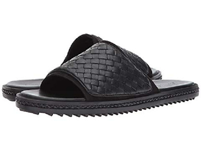 450fc6bdf50739 Tommy Bahama Men s Shore Crest US 14 D Black Woven Leather Slides Sandals   80.00