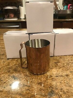 ABSOLUT VODKA MOSCOW MULE MUGS COPPER STAINLESS STEEL New-SET OF 4 MUGS