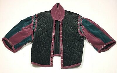 Moresca Renaissance Medieval Quilted Shirt Top Men's Small Pirate