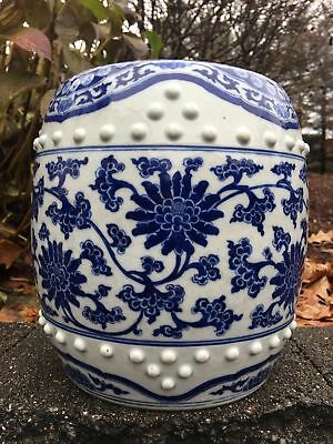 Fine Chinese Blue And White Porcelain Antique Garden Seat