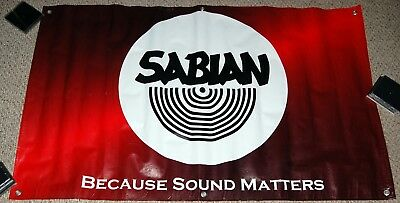 SABIAN Cymbal Because Sound Matters Vinyl 5FT Promo Store Display Banner Poster