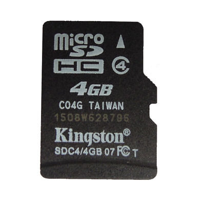 4GB/Genuine Kingston Micro SD SDHC TF Flash C4 Memory Card f Phone