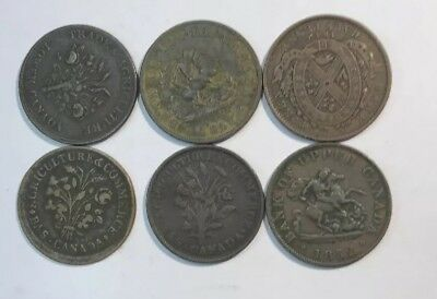 6– Copper Canadian Bank Tokens Circulated