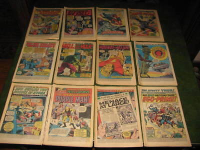 Lot of 12 Vintage Marvel Superhero Coverless Comic Books X Men Hulk  Spiderman