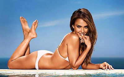GLOSSY PHOTO PICTURE 8x10 Jessica Alba Tender With The Finger On The Lips
