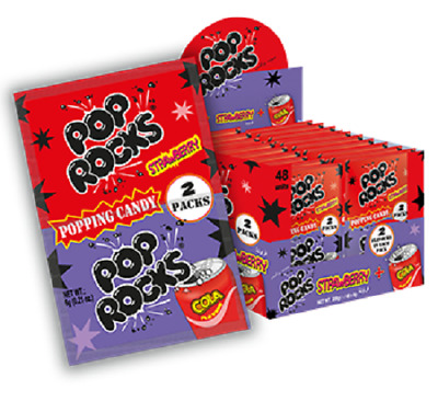 5 x POP ROCK STRAWBERRY & COLA Popping Candy 6g each