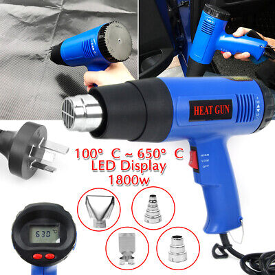 Electric Heat Gun Temperature Hot Air Heating Tool Set Adjustable 220V 1800W