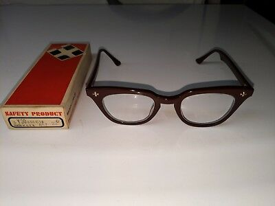 Vintage Bausch And Lomb Safety Glasses with Original Box