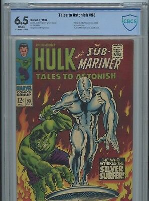 Tales to Astonish #93 CBCS 6.5 1963  Hulk & Silver Surfer Cover. not cgc White