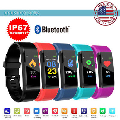Fitness Activity Tracker Heart Rate Monitor Sport Bracelet Pedometer Smart Watch