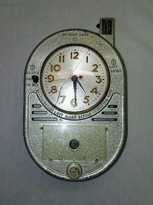 Antique Vintage Dime-A-Wake Coin Operated Hotel Motel Alarm Clock Rare Coin Op