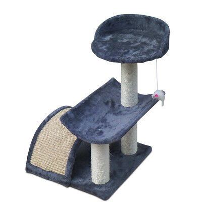 Pet 60cm Cat Scratching Tree Gym House Scratcher Pole Furniture Bed Toy -Grey