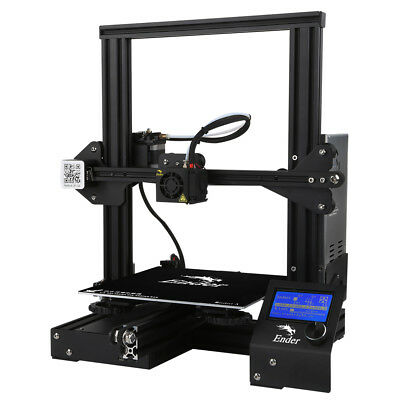 Used Creality Ender-3 3D Printer Aluminum DIY with Resume Print 220x220x250mm