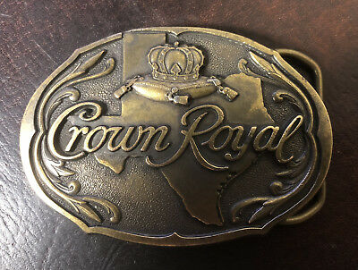 Texas Crown Royal State of Texas Belt Buckle