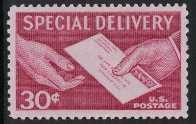 Scott E21- Special Delivery, Hand to Hand- MNH 30c 1957- unused mint stamp
