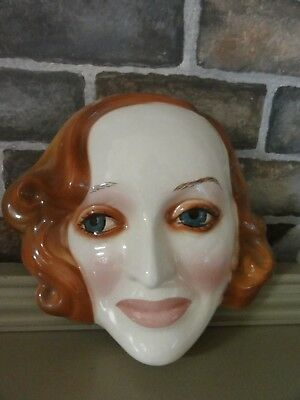 "Clay Arts Ceramic Mask BETTE DAVIS ""WHATEVER HAPPENED TO BABY JANE"" RARE"