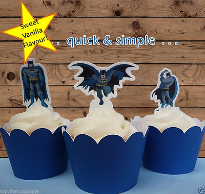 Batman Edible Cupcake Cake Toppers Images Decorations Marvel #520