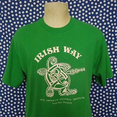 Vintage 1980's Irish American Cultural Institute t-shirt Ireland St. Paul MN