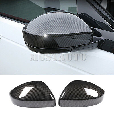 For Land Rover Discovery Sport Carbon Fiber Style Rearview Mirror Cover (15-18)