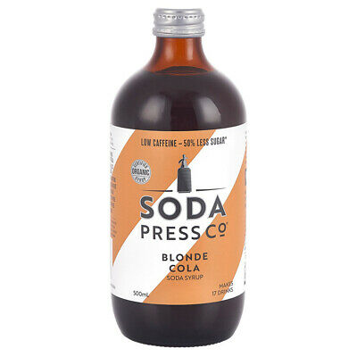 NEW Soda Press Co Blonde Cola Syrup 500ml