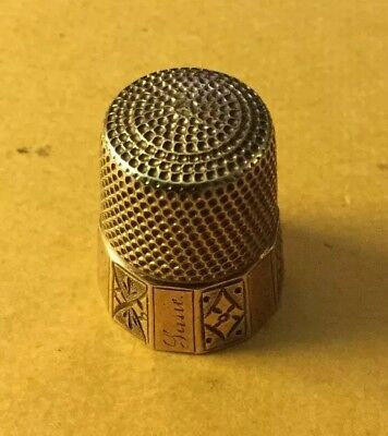 Victorian 14 KT gold thimble Sewing-1888-Beautiful