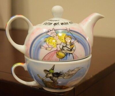 Paul Cardew Wizard of  oz Tea Pot With Cup, Designed in England Wrap Around Art