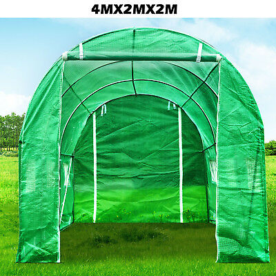 4X2M Fully Galvanised Steel Polytunnel Frame Greenhouse Walk-in Run Polly Tunnel