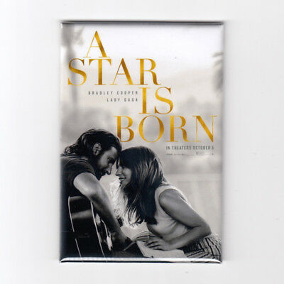 "A STAR IS BORN (2018) - 2"" x 3"" MOVIE POSTER MAGNET (lady gaga soundtrack cooper"