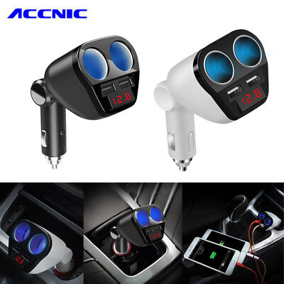 Universal Dual USB Charger Car Cigarette Lighter Adapter Socket for Mobile Phone