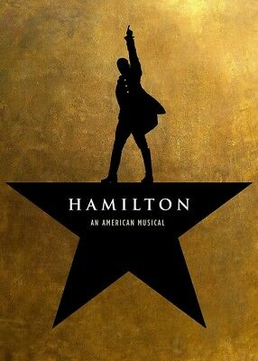 HAMILTON the musical theatre poster photograph - quality glossy A4 print