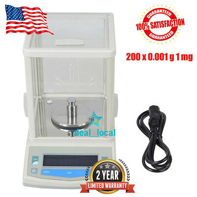 200 x 0.001 g 1 mg Lab Analytical Balance Digital Precision Scale U.S.