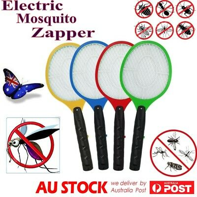 2x Electric Bug Zapper Racket Mosquito Fly Swatter Killer Insects Bat Handheld