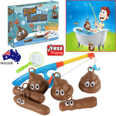 Fishing Tool For Floaters Game Kids Bathroom Novelty Toys Poop Poo Bath FUN Gift