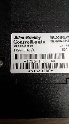 Allen Bradley 1756-IT6I Used/working. Analogue thermocouple 6 channel ex/cond