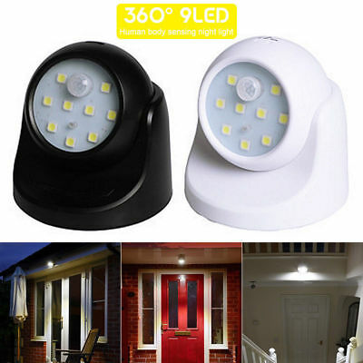 360° Battery Outdoor LED Operated Light Garden Indoor Security Sensor Motion