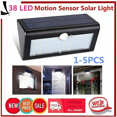38 LED Solar Power Light Wireless Motion Sensor Outdoor Security Lamp Garden UJ