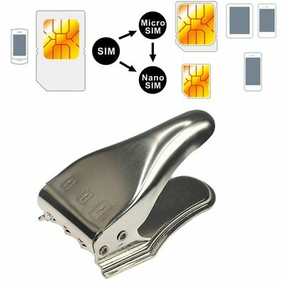 3 In 1 Multifunction SIM Card Cutters Durable High Hardness Card Calipers UJ
