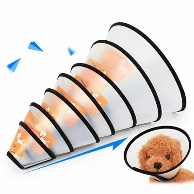 Anti-Biting Dog Cat Grooming Protective Cover Wound Healing Cone Collar UJ