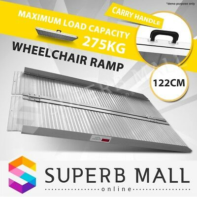 1.2M Portable Aluminium Wheelchair Ramp Scooter Folding Mobility Loading Access
