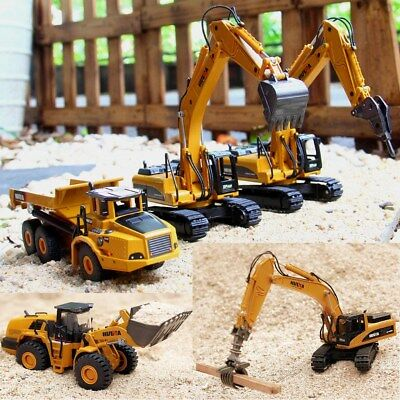 1:50 Alloy Excavator Car Truck Construction Vehicle Equipment Diecast Model Toys