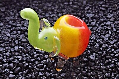 "4"" Color Elephant Collectible Tobacco Glass Pipe Smoking Herb Bowl Hand Pipes"