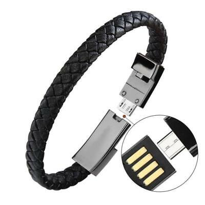 USB Cable Bracelet Wristband Charger Charging Data Sync Cord For Cell Phone